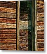 Boarded Doorway Metal Print