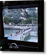 Boarding At Sausalito Metal Print