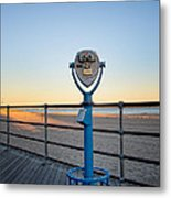 Boardwalk Sunset Metal Print