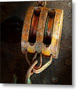 Boat - Block And Tackle II Metal Print