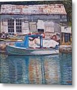 Boat And Shed St. David's Metal Print