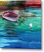 Boat And The Buoy Metal Print