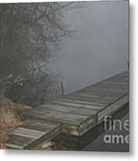 Boat Dock To No Where Metal Print
