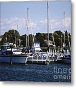 Boat Harbor In Dunkirk New York Metal Print
