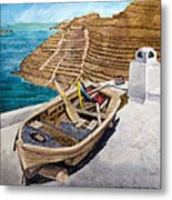Boat On A Roof Metal Print