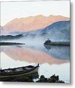 Boat On A Tranquil Lake Killarney Metal Print
