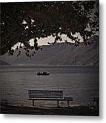 boat on the Lago Maggiore Metal Print