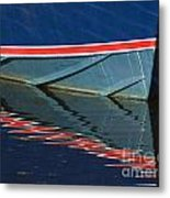 Boat Reflection 2 Metal Print