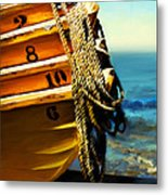 Boat Ropes Metal Print by Suni Roveto