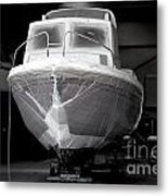 Boat With Protection Metal Print