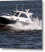 Boating On The Bay Metal Print