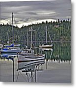 Boating Reflections Metal Print