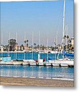 Boats And Blue Water Metal Print