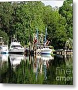 Boats Are In Metal Print