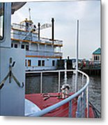 Boats At Alexandria Metal Print