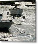 boats at low tide in Cape Cod Metal Print