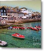 Boats At St Ives  Metal Print