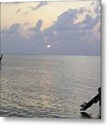 Boats Coming To A Rest For The Day At Sunset In The Lakshadweep Islands Metal Print
