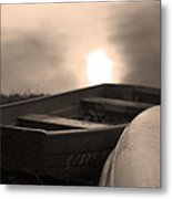 Boats Down By The Pond Metal Print