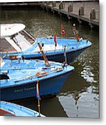Boats In Amsterdam. Holland Metal Print