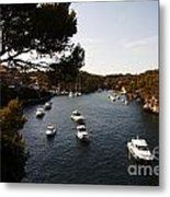 Boats In Cala Figuera Metal Print