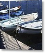 Boats In Harbor Metal Print by Axiom Photographic