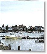 Boats In Harbor Water Metal Print