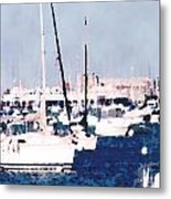Boats In Summer  Metal Print
