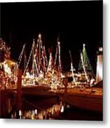 Boats Lighted Metal Print