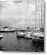 Boats Meeting Metal Print