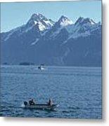 Boats On Alaska's Inside Passage Metal Print