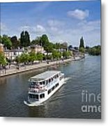 Boats On River Dee Metal Print