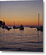 Boats On The Adriatic Sea Metal Print