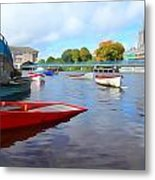 Boats On The Garavogue Metal Print