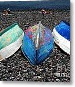 Boats On The Shingle Metal Print