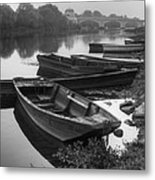 Boats On The Vienne Metal Print