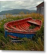 Boats  Shore In Time Metal Print