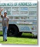 Bob And The Kindness Bus Metal Print