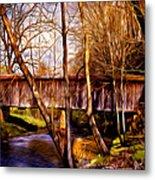 Bob White Covered Bridge Metal Print