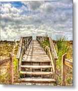 Boca Grande Boardwalk Metal Print