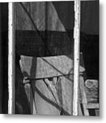Bodi Ghost Town Window Metal Print