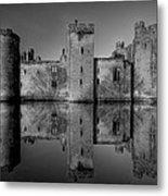 Bodiam Castle In Mono Metal Print by Mark Leader