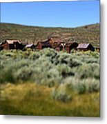 Bodie Ghost Town Landscape Metal Print