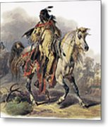 Bodmer: Blackfoot Horseman Metal Print