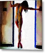 Body Painting Metal Print