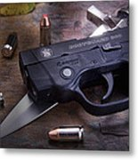 Bodyguard Concealed Carry Metal Print