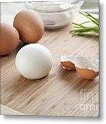 Boiled Eggs Metal Print