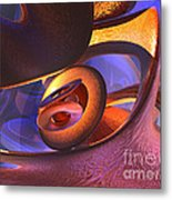 Bold Contagion Abstract Metal Print