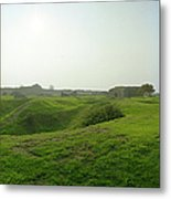 Bomb Craters Pointe Du Hoc Metal Print