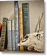 Bone Collector Library Metal Print by Heather Applegate
